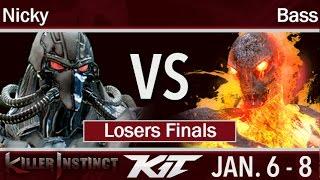 KIT17  - Circa | Nicky (Fulgore, Mira) vs UA | Bass (Cinder, Spinal) Losers Finals - Killer Instinct