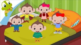 Five little Monkeys Nursery Rhyme for Kids | Songs for Children