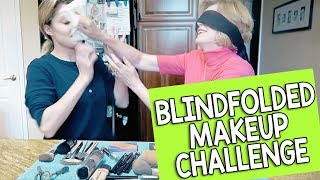 BLINDFOLDED MAKEUP CHALLENGE w/ MY MOM // Grace Helbig