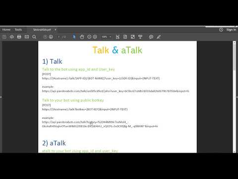 4 0 Chatbot Programming with Pandorabots API