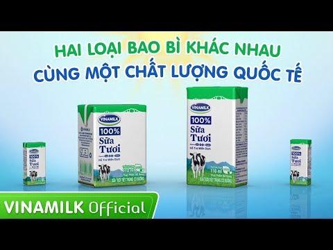 Quảng cáo sữa Vinamilk - Hai loại bao bì khác nhau, cùng một chất lượng quốc tế