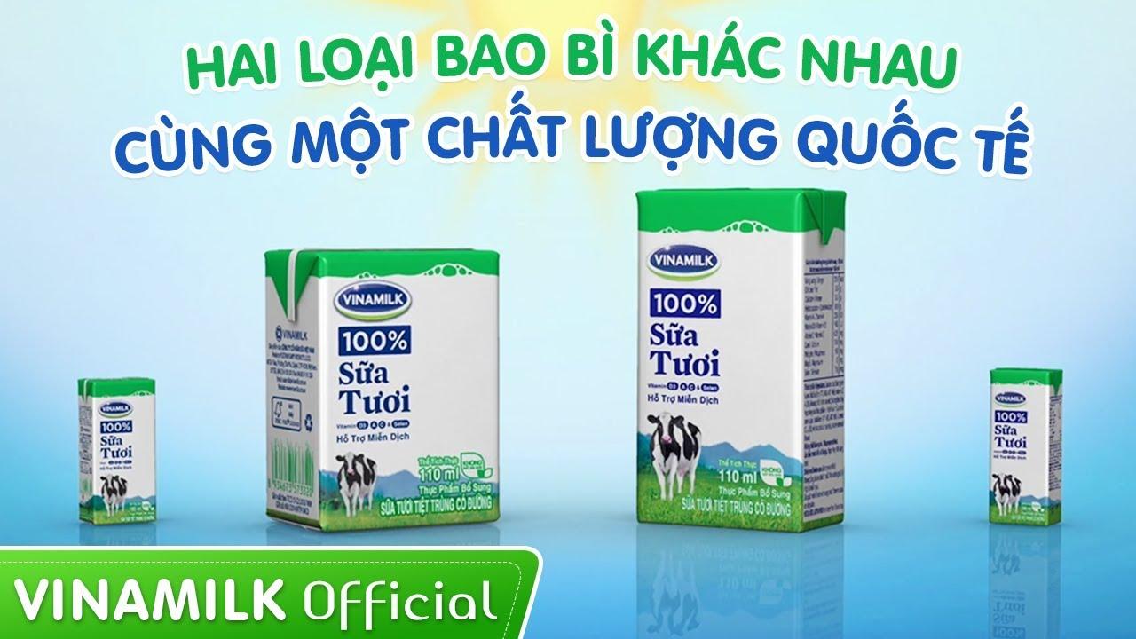 Quảng cáo sữa Vinamilk – Hai loại bao bì khác nhau, cùng một chất lượng quốc tế