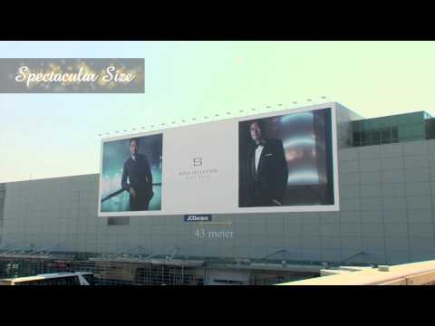 JCDecaux Transport (Macau): Hugo Boss at the NEW Terminal Exterior Advertising