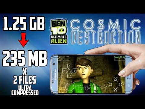 (235 MB) Ben 10 Ultimate Alien_Cosmic Destruction Highly Compressed PSP Iso Download For Android