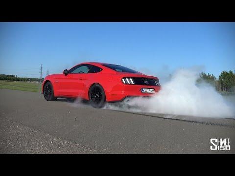 Ford Mustang V8 Line Lock Demonstration - Epic Burnouts! [4K]