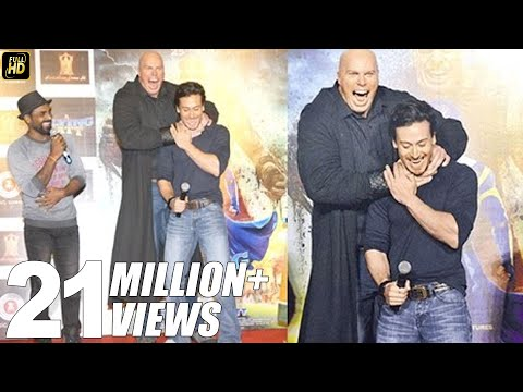Tiger Shroff Looks So Small In front Of Nathan Jones - Villian Of A Flying Jatt