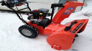 Ariens 28 Deluxe Snow Blower 12.5 254cc With Auto-Turn - Customer Review - Demonstration