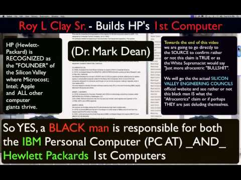 BLACK MAN Built Hewlett Packard 1st PC