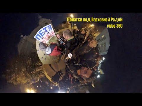 Tent camp under the Verkhovna Rada of Ukraine. Video 360