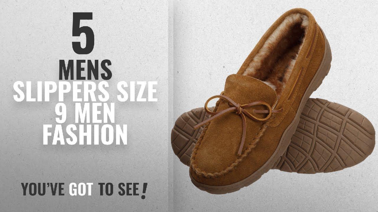 6c2b45ab77 Top 10 Mens Slippers Size 9 [Men Fashion Winter 2018 ]: Rockport Memory Foam  Plush Lining Suede Slip