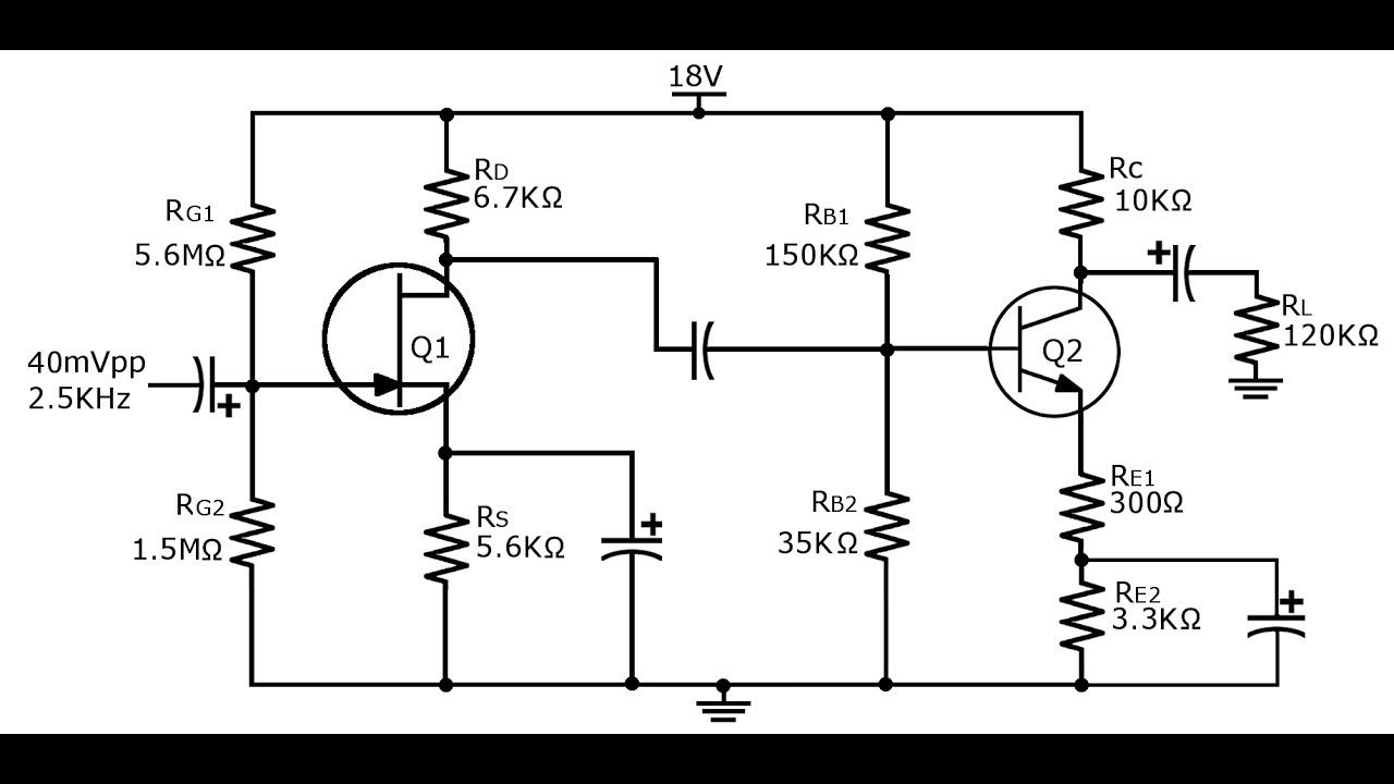 56  combination fet and bjt circuit  bifet