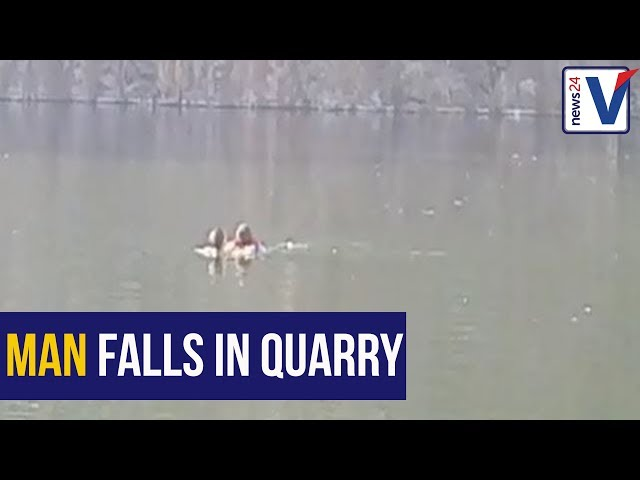 WATCH: Durban man rescued after falling into a quarry