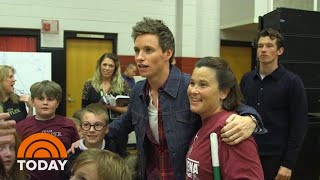 See The 'Fantastic Beasts' Cast Pay A Surprise Visit To Alabama School | TODAY
