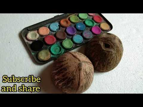 Coconut Shell Craft/Best Reuse Idea Of Coconut Shell /Shoba Handcraft/Diy In Tamil /hand Crafts/
