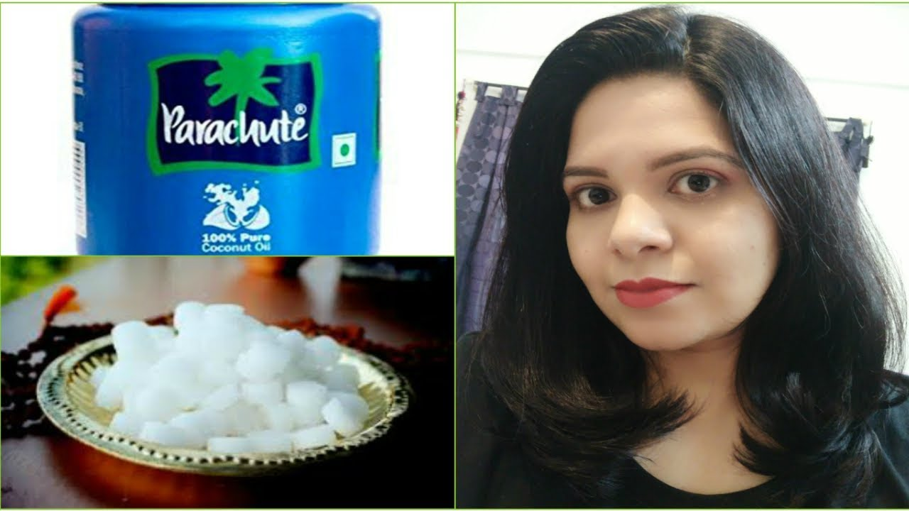 How to apply hair oil for hair growth n conditioning using camphor n  coconut oil