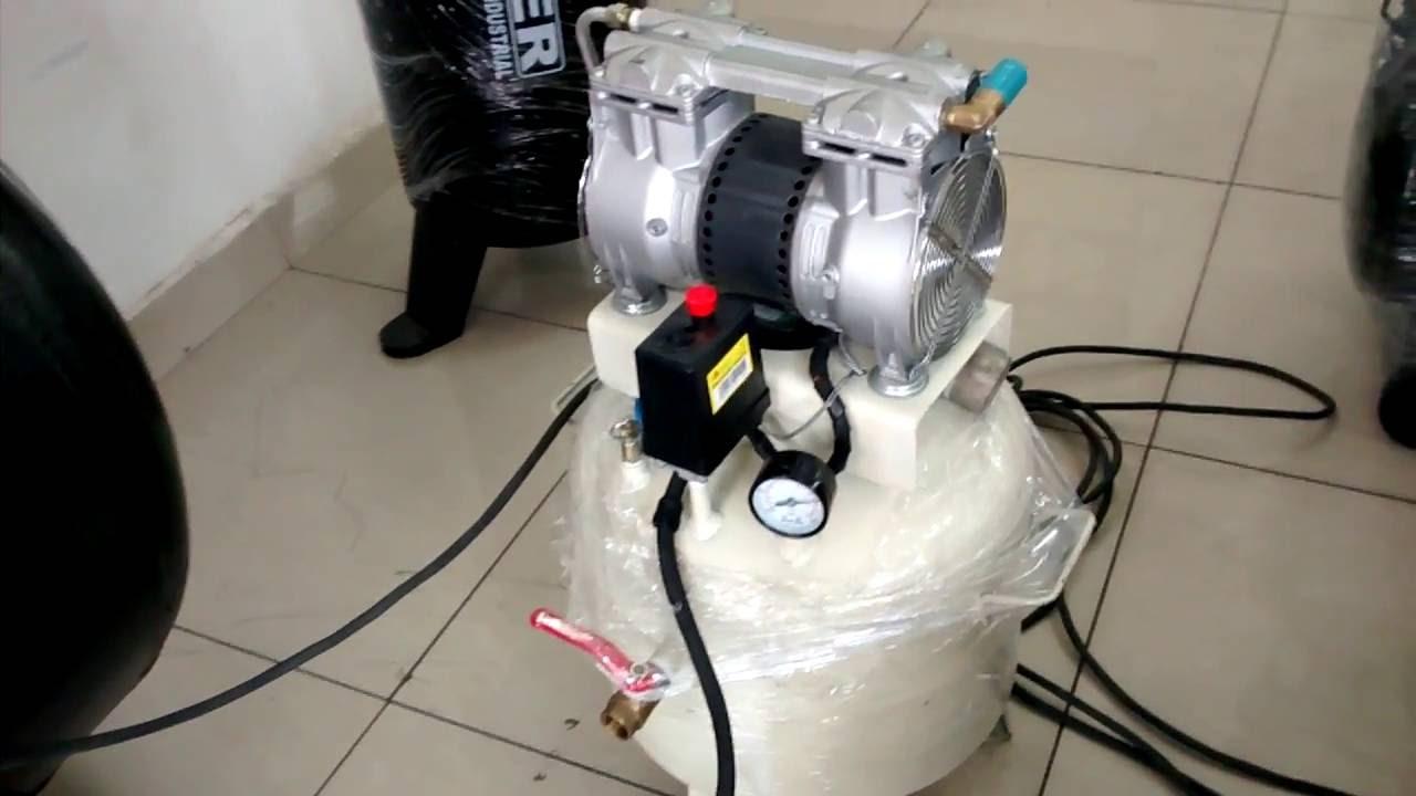 Compresor libre de aceite Thomas 1hp - YouTube