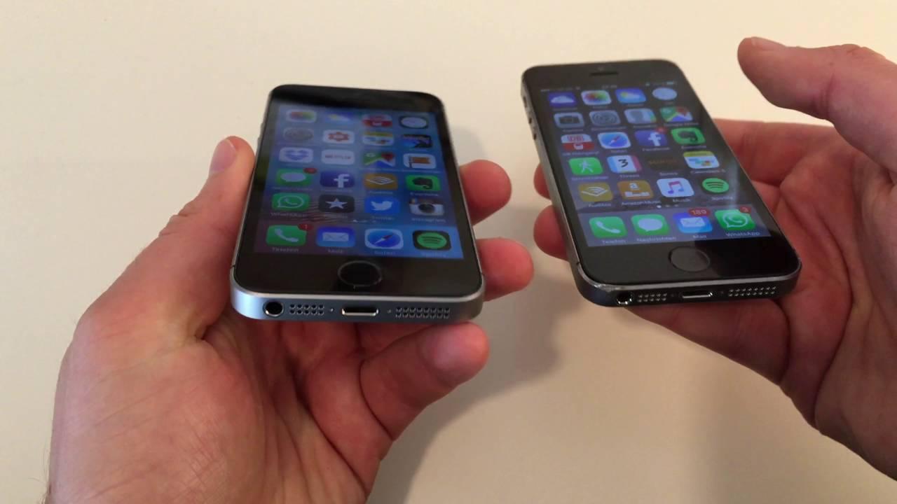 apple iphone se vs iphone 5s vergleich youtube. Black Bedroom Furniture Sets. Home Design Ideas