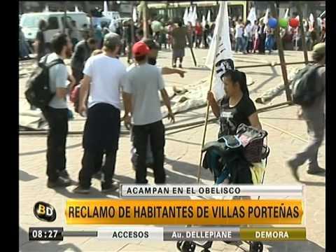 Reclamo en el Obelisco y advertencia de huelga de hambre - Telefe Noticias