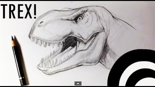 How to Draw a T-rex - Draw Fantasy Art