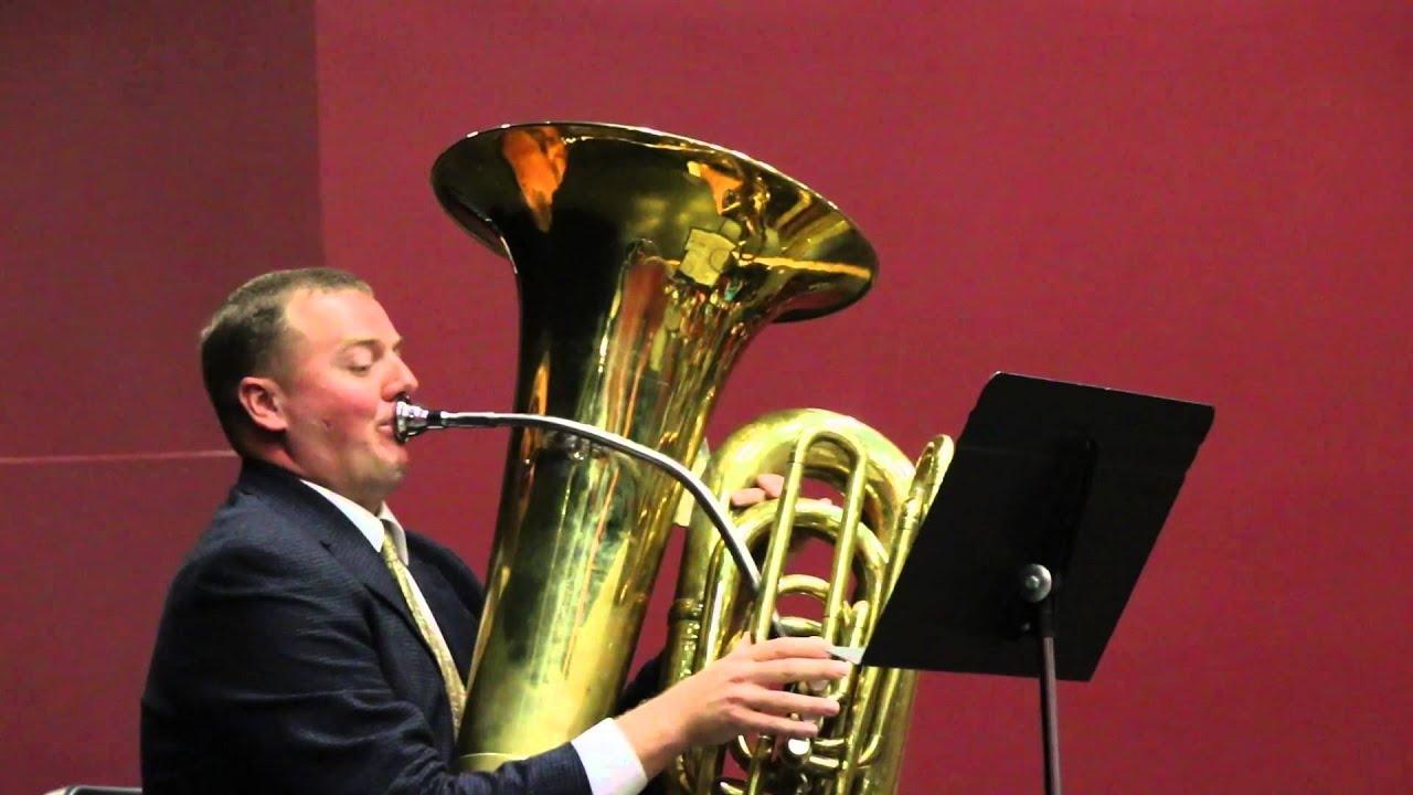 Marine Band tuba player performs at Bethel High School ...