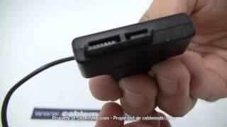 Cable SlimLine SATA a USB 2.0 con datos y alimentación distribuido por CABLEMATIC ®