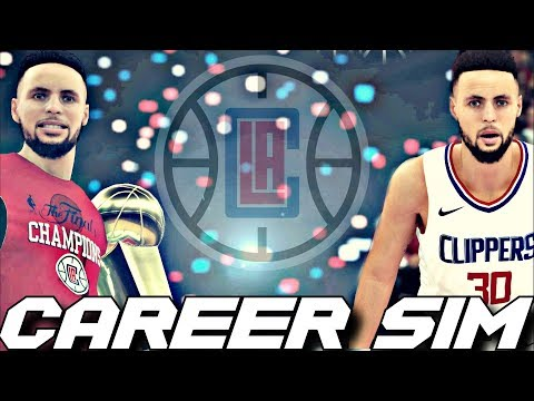 WHAT IF STEPHEN CURRY WAS DRAFTED TO THE CLIPPERS #1 OVERALL?!? CAREER SIMULATION ON NBA2K18!!!