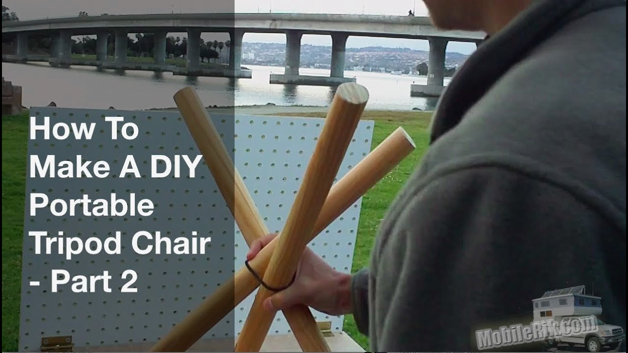 How To Make A Portable Diy Tripod Camping Stool Part 2