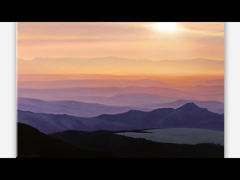 SIMPLE and EASY Landscape Painting Tutorial