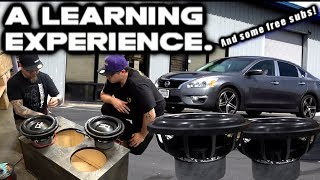 A Car Audio Learning Experience +Free Subs Jareds 2014 Nissan Altima (DIY+Some Help From Me) video 1