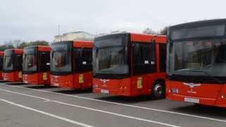 20 новых современных автобусов на Театральной площади. Киров