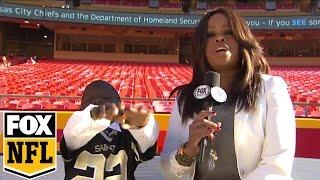 Saints sign inspiring young fan as honorary member | FOX NFL Kickoff