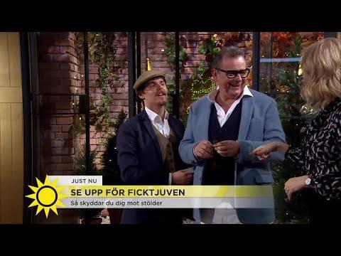 """Här snor """"ficktjuven"""" Steffos mobil - i direktsändning! - Nyhetsmorgon (TV4)"""