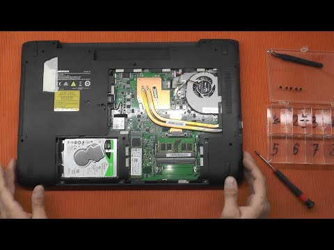 Medion Erazer Gaming Upgrade SSD Ram P76xx Disassembly