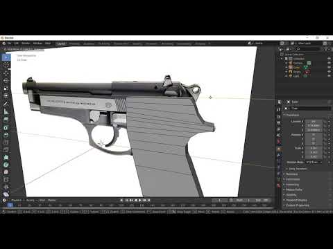 How to make a Low Poly Gun in Blender Part 1 - YouTube