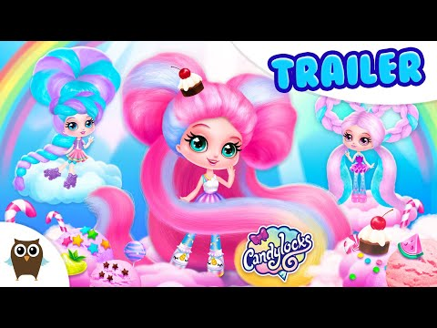 🍭 Candylocks Hair Salon 🍭 Style Cotton Candy Hair   TutoTOONS Cartoons & Games For Kids