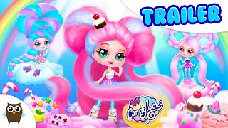 🍭 Candylocks Hair Salon 🍭 Style Cotton Candy Hair | TutoTOONS Cartoons & Games for Kids