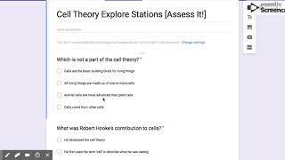 Which is not a part of the cell theory?