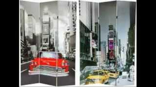 Nyc Room Dividers Nyc New York City Folding Screens