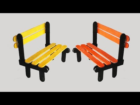 how to make pop stick bench tcraft