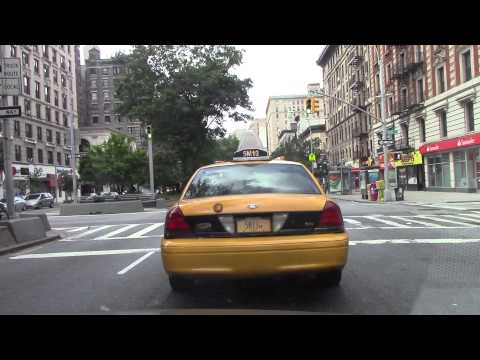 Driving Broadway to Lower Manhattan, New York City