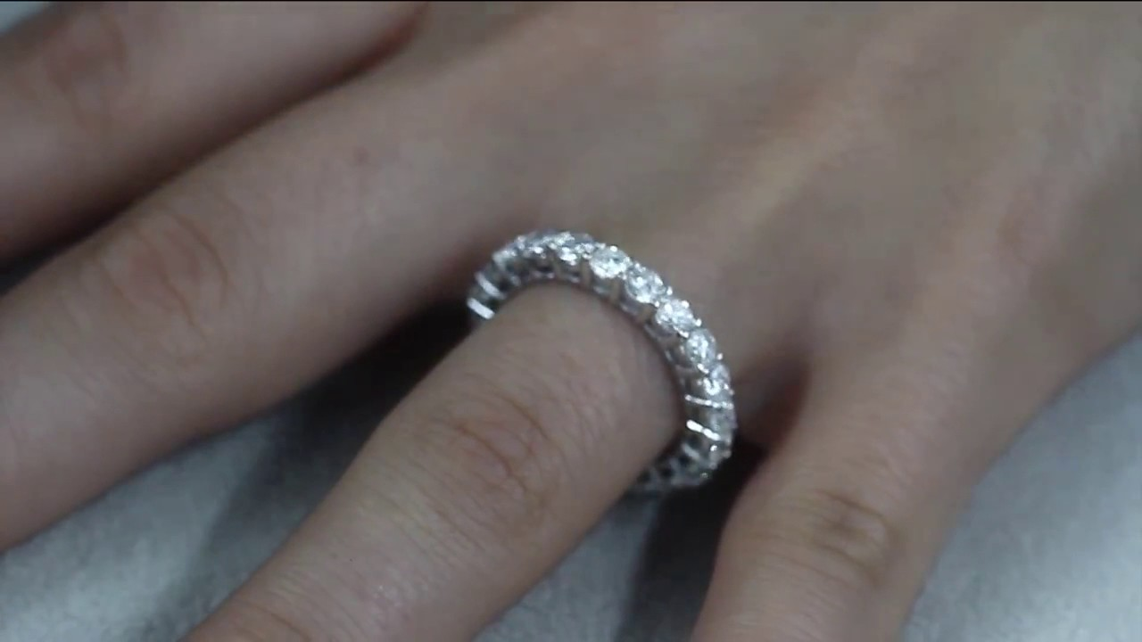 ring white diamond gold carat engagement watch youtube