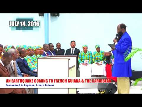 MESSAGE!! Blood and Cross (Conl), July 2016, EARTHQUAKE PROPHECY, CARIBBEAN, PROPHET DR. OWUOR!