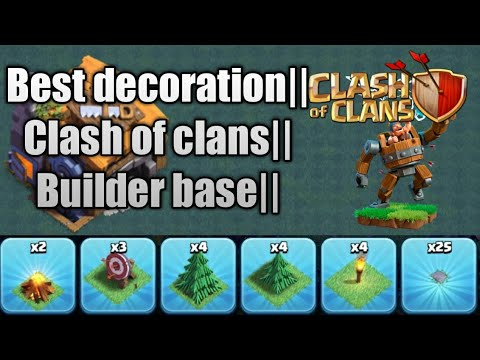 BEST DECORATION FOR BUILDER  BASE ||CLASH OF CLANS ||