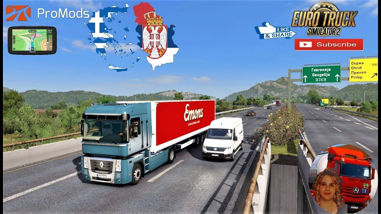 Euro Truck Simulator 2 1 35 Greece To Serbia Promods Map V2 41