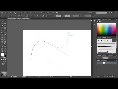 Video corso di Illustrator CC - lezione 26 - Le maniglie e i punti