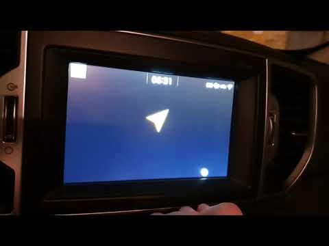 Яндекс навигатор на штатной  магнитоле на Android Kia Sportage 4 Ql