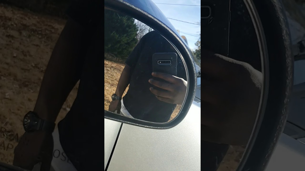 Hard water stains on car windows. - YouTube