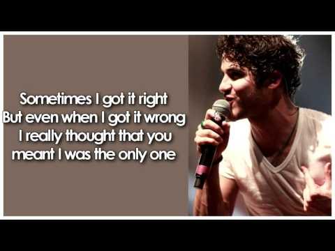 Darren Criss - Any of Those Things (Acoustic) (Lyrics)