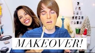 NO ARMS MAKEUP CHALLENGE! ft SHANE DAWSON