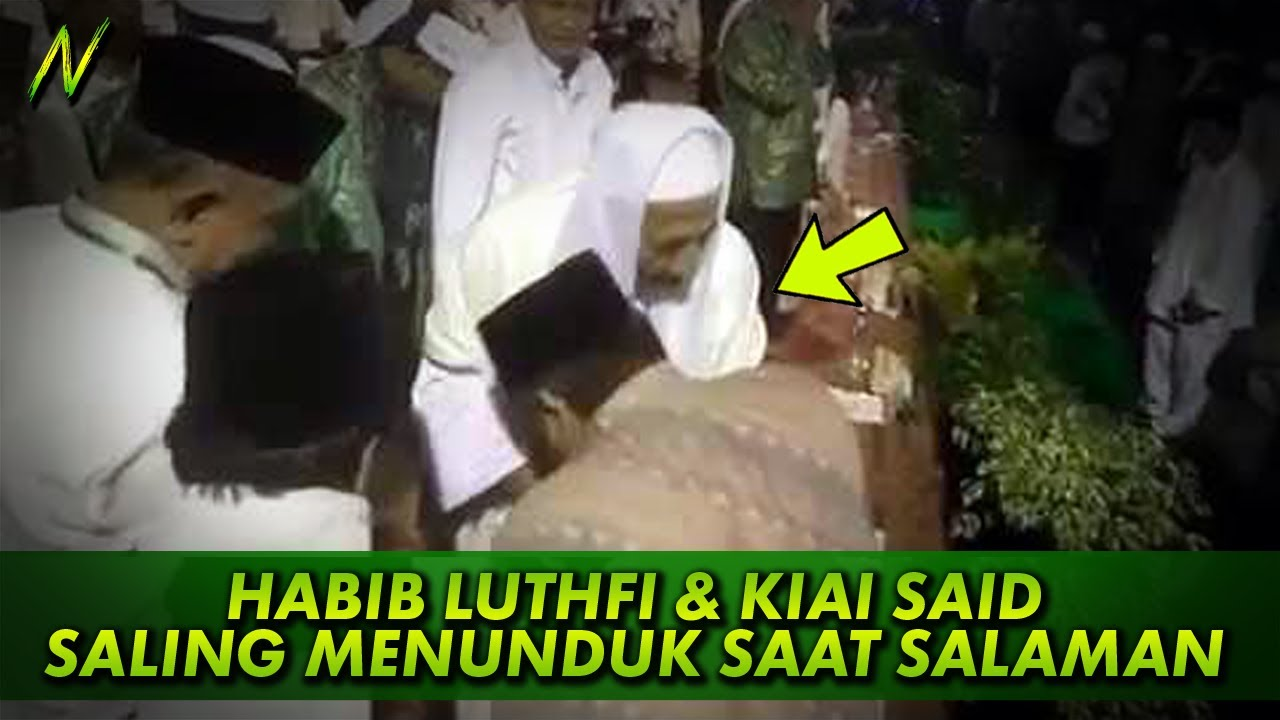 Kisah Habib Luthfi dan Kiai Aqil Siradj Menunduk Bersamaan saat Salaman